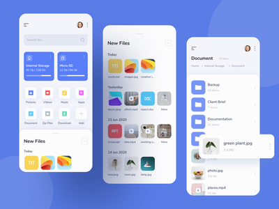 File Manager Mobile App mobile app design ui ux file management mobile app file manager