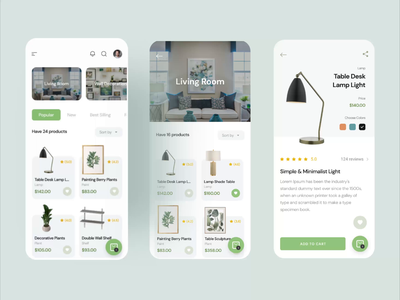 Home decoration app - animated prototyping protopie animated prototyping marketplace app home decoration ui ux