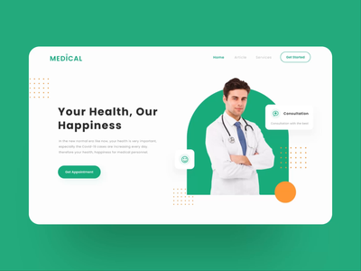 Medical homepage animated version landing page homepage doctor appointment doctor app medical health care