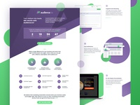 Homepage design for email marketing website