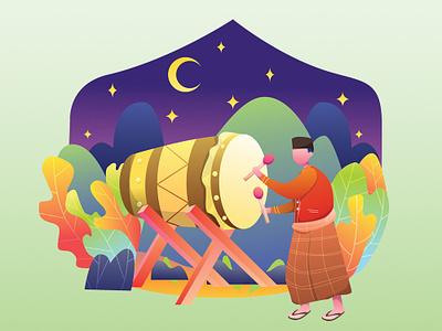 Ramadan Mubarak illustration hero image muslim ramadan kareem ramadan mubarak ied fitr islam ramadhan illustration