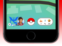 Pokémon Go - Bottom bar redesign
