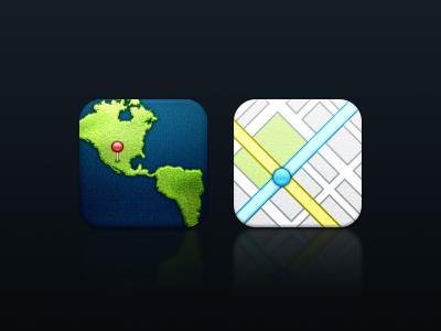 Maps icon ios maps