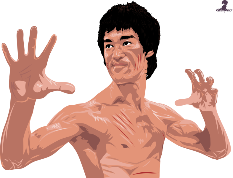 Mr. Bruce Lee Portrait Illustration vector art portrait illustration illustration portrait design