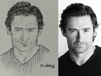 Hugh Jackman Sketch