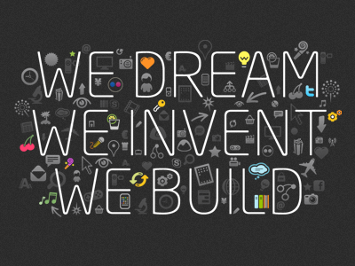 We dream, we invent, we build icons cherries neo sans
