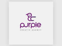 Logo Design For Purple Creative Agency