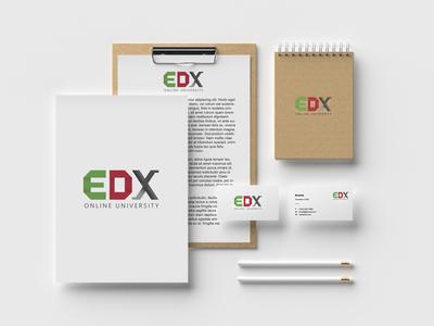 Design logo fo EDX Online University