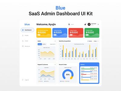 Blue - SaaS Admin Dashboard UI Kit web illustration design mobile app design mobile app homepage ui ux landing page