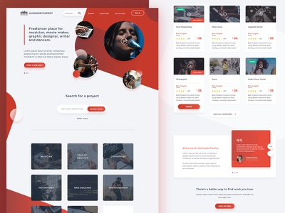 Landing page for freelancer website web design ui ux singer artist freelancer music landing page freelance