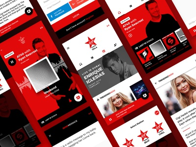 music radio app exploration radio ui  ux design mobile app mobile mobile app design