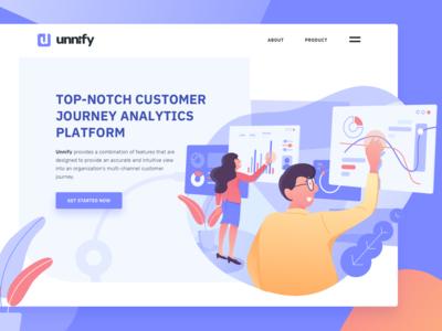 Customer data analytic platform hero illustration