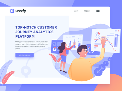 Customer data analytic platform hero illustration hero illustration customer analyze data analytic data analysis data analytics landing page ui ux