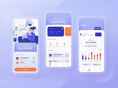 Financial  Tracker  Mobile mobile design financial app illustration vector app design expenses income finance app mobile app ui design ux ui