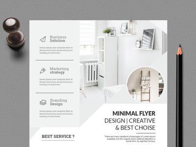 Minimal Flyer Design.