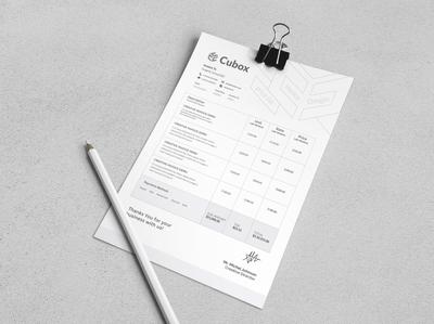 Invoice Design.