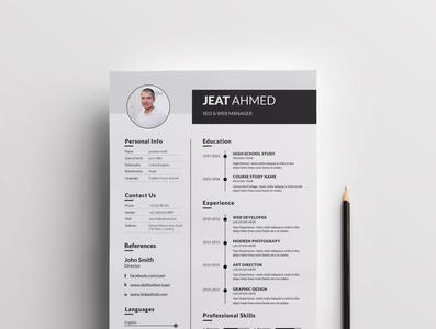 Resume Template cv design corporate resume clean cv cv resume clean resume resume template clean design cv cv resume template resume