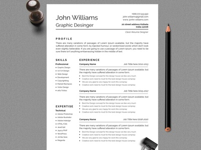 Clean And Professional Resume Design