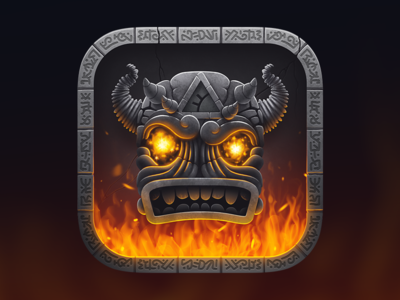 Totem Forge game icon match ancient runes gems fire golem icon totem forge ios game