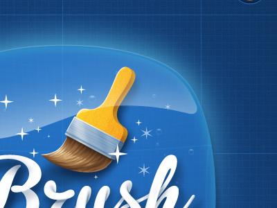 Brush brush ui tech stars bubbles