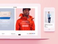 Gentry NYC Store Website pages style desktop mobile store fashion ui site web flat
