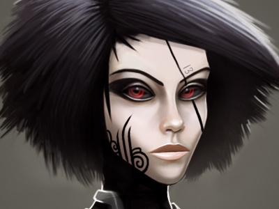 game character game character face girl vampire 2d illustration