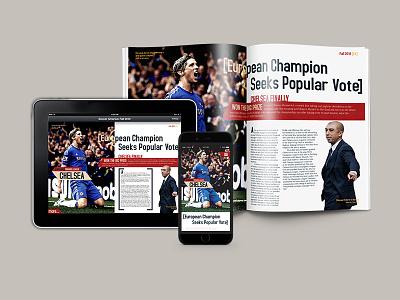 Soccer America Magazine Redesign digital print magazine ux design layout