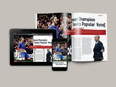 Soccer America Magazine Redesign digital print magazine ux design layout