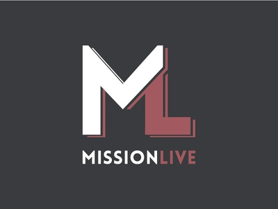 MissionLive logo graphic design branding