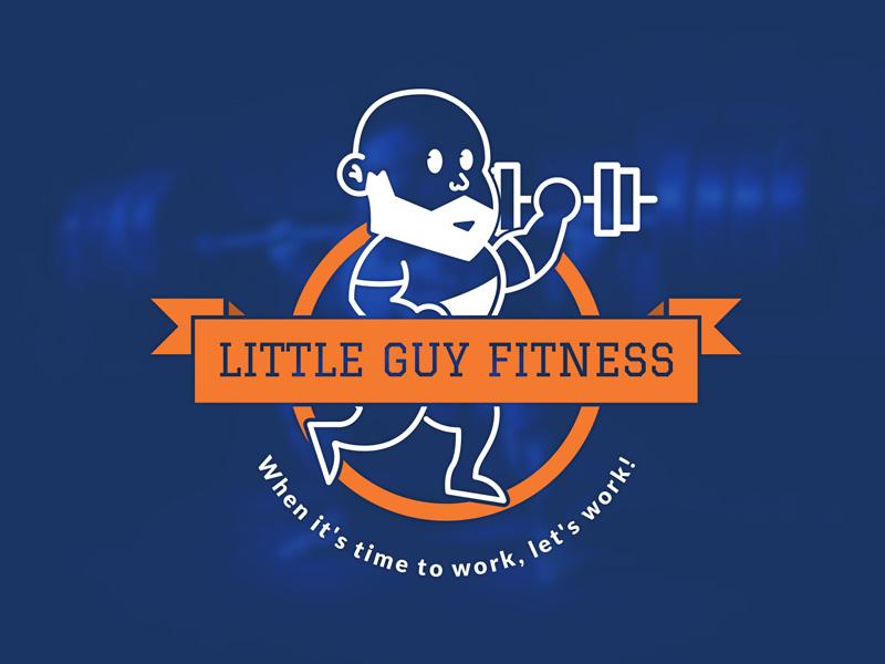 Little Guy Fitness Logo logo branding logo design