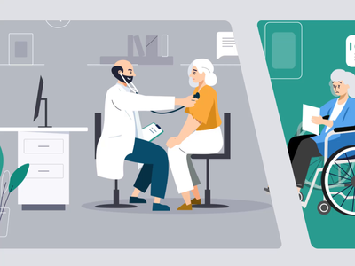 Health Co-Care animation 2d moho animation design character queble aftereffects interface illustration animation