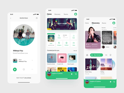 Product Design - Skybeat product design mobile streaming music music app interface queble design animated motion design gui app aftereffects animation ui
