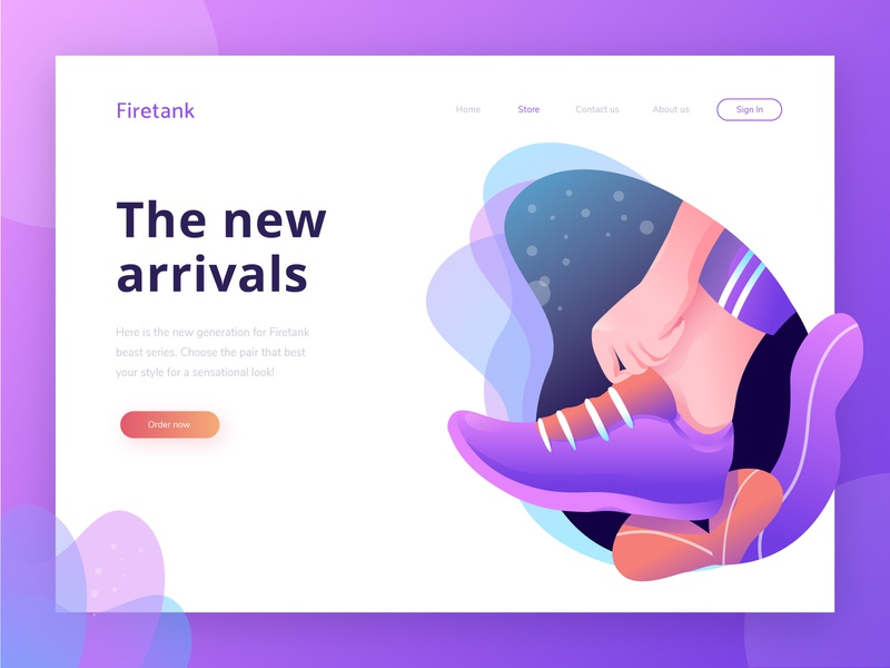 FREEBIE - Shoe online shop header adobe illustrator freebie freebies online shop shoe ui landing page hero image exploration illustration