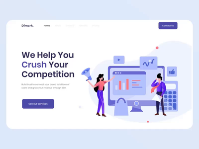 REV DIGITAL MARKETING animated hero landing page concept after effect flat animated banner landing page animation illustration hero image exploration
