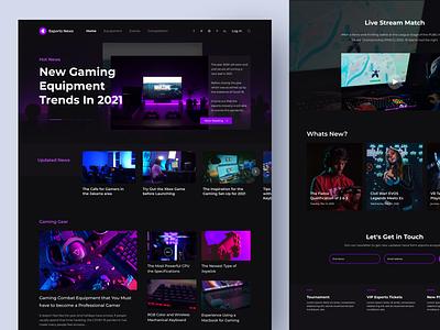 E sport News Landing Page web design homepage landing page esport esports