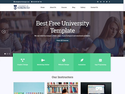 University Website Template Designs Themes Templates And Downloadable Graphic Elements On Dribbble