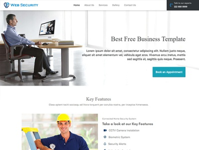 Security System Website Template Free Template