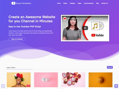 Youtuber HTML Website Template