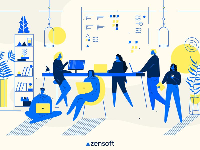Friday time at Zensoft! :) graphic  design illustration cards ui ux design