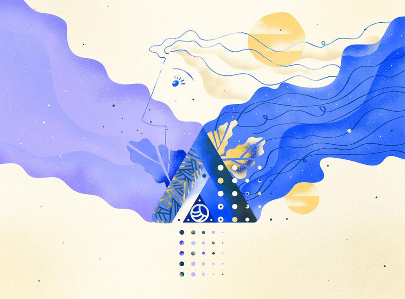 Inspiration inspiration illustration cards design