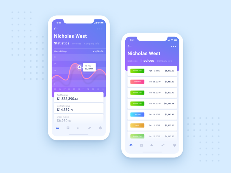 Get paid or send invoice from anywhere | Mobile App typography inspiration ios interaction branding app ux ui design