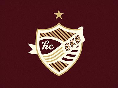 Kickball Crest kickball soccer crest shield logo star stripes team
