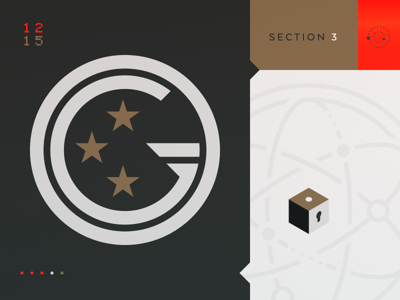 The Guides Section 3 insignia mystery enamel pin cipher logo cryptic mobile ios game puzzle
