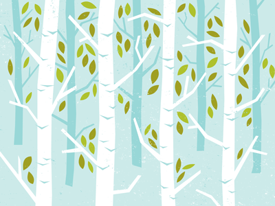 Summer illustration blue leaves summer seasons