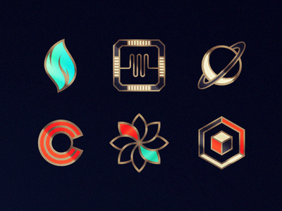 The Guides Axiom android ios flame saturn qubit game icons badges mystery cryptic puzzle cipher