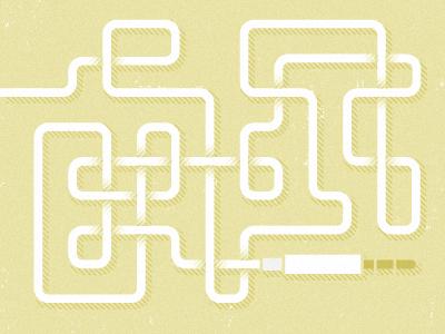 Super Knot illustration yellow headphones e 1 ⌘ cord tangle