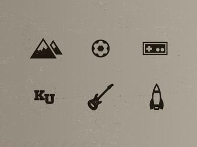 About icons mountain soccer nintendo rock chalk guitar rocket