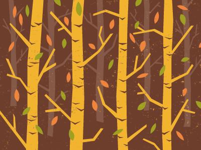 Fall illustration brown trees seasons fall leaves