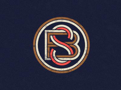 Monogram monogram b s circle texture