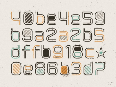 Welcome typography pattern texture code